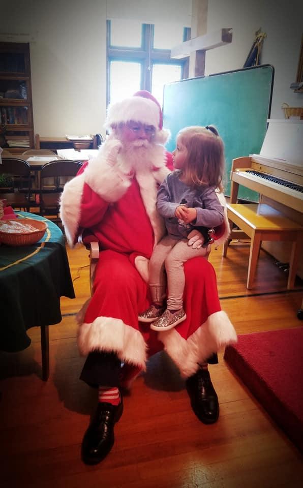 Ellie and Santa